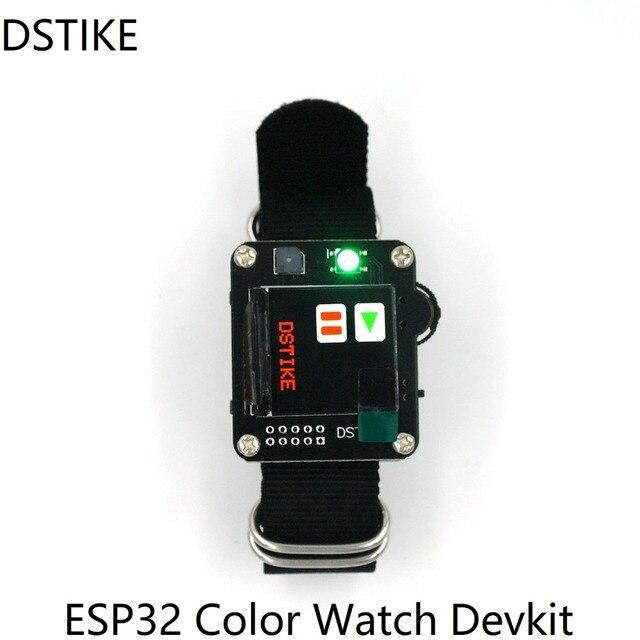 DSTIKE ESP32 Watch DevKit 600mah Battery inside RGB led Buzzer 240*240 ST7789 TFT IPS LCD