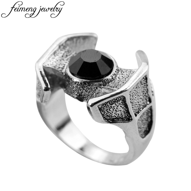 Fine Jewelry Star Wars Stainless Steel Darth Vader Square Top Ring EU8GTB