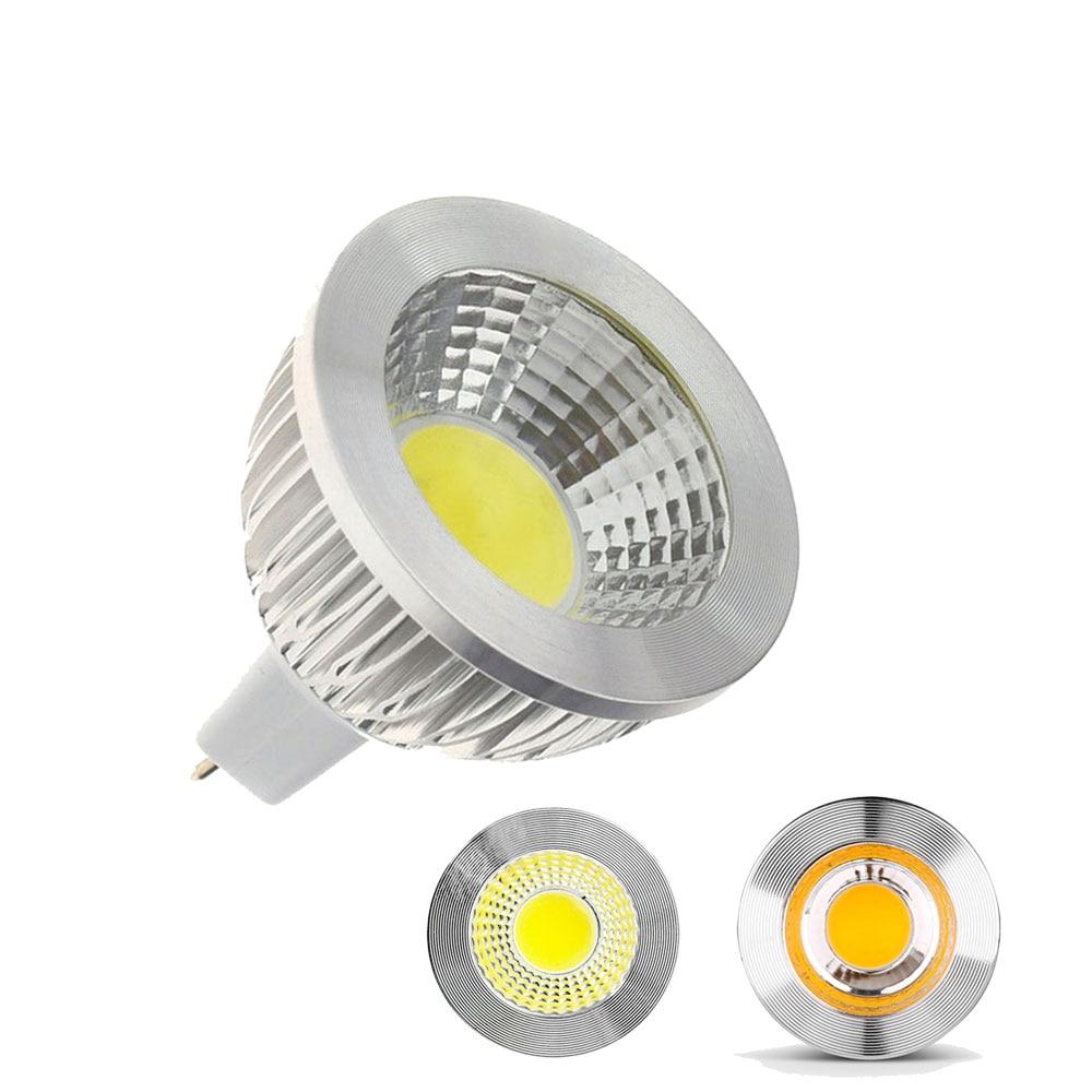 10Pcs DC 12V COB LED MR16 Light DC12V 3W 5W led bulb Spot Light MR16 Warm White Spotlight MR 16 Lamp Energy Saving Home Bulbs e27 led lamp bulbs 100v 240v white warm light energy saving bright 4 kind