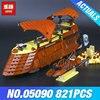 Lepin 05090 821Pcs Genuine Star War Series The Jabba S Sail Barge Set Children Educational Building