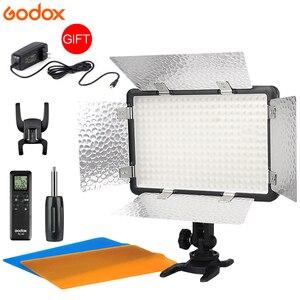 Image 1 - Godox LED 308W II 5600K blanc télécommande LED professionnel vidéo Studio lumière + adaptateur secteur vente chaude