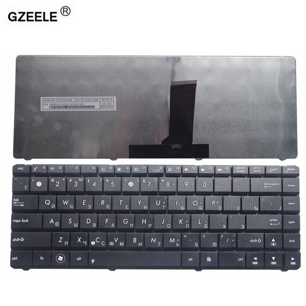 GZEELE Nouveau RU clavier D'ordinateur Portable pour ASUS X42J X43 X43S N43sl B43J N43SN P43 A83S X44H U31S remplacer RU russe clavier noir