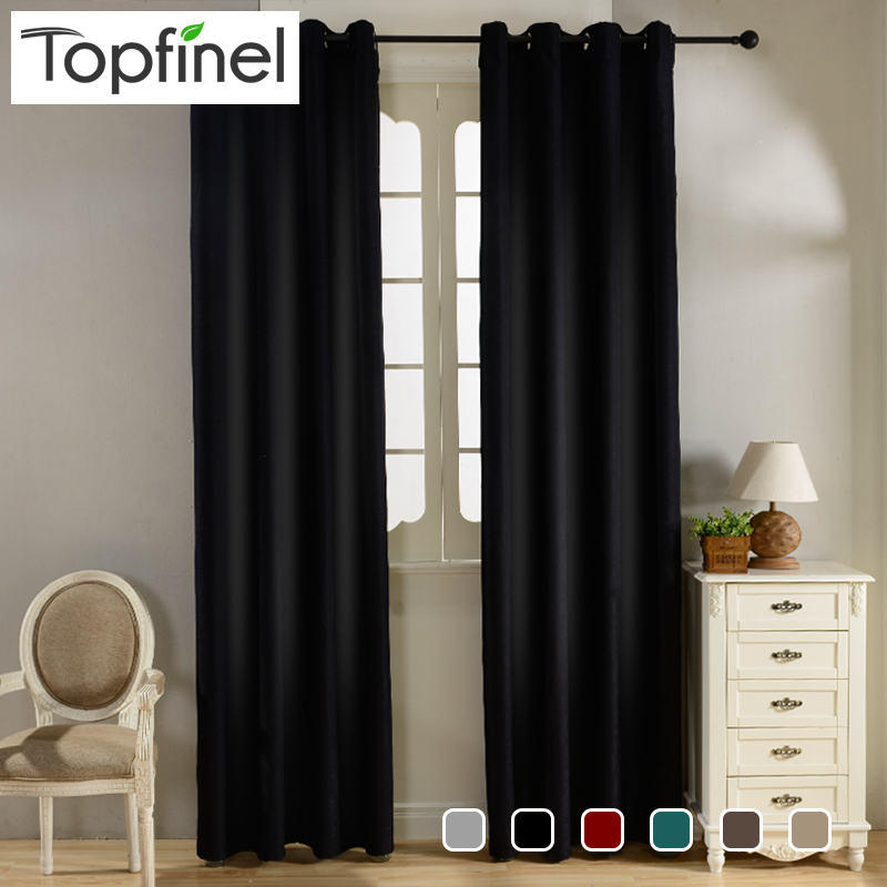top finel modern solid velvet blackout curtains for living. Black Bedroom Furniture Sets. Home Design Ideas