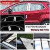 TOMMIA Pieno Finestra Centrale Pilastro di Stampaggio Sill Trim Chromium Styling Strisce In Acciaio Inox Per Ford Ecosport-in Cromature da Automobili e motocicli su