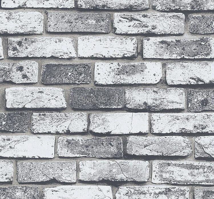 Nowoczesne vintage cegły kamienia pokoju tapety mural 3d winylu wodoodporna tłoczone tapety rolka papel de parede home decor 10 m 8