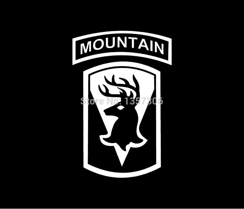 Hot Sale Inf Mtn Mountain Infantry Patch Vinyl Decal Car Window Sticker Deer 9 Colors
