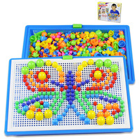 Mushroom Nail Kit Puzzle Toys 3D Mosaic Picture Puzzle 296pcs Kids Children Birthday Gifts Brinquedos Juguetes
