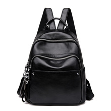 2019 Backpack Women PU Leather Casual ladies Black School Bags for Teenage Girls High Quality Fashion Travel Female Backpacks все цены