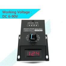 Регулируемый регулятор двигателя постоянного тока 6v12v24v36v48v60v72v90v