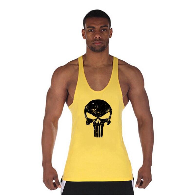 Bodybuilding Stringer Tank Top Herren Baumwolle Ärmellose Shirts Für Muscle Männer Workout Tanks Fitness Kraftpaket Weste Tanktops