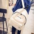 Simplicidade elegante coreano de Oxford mochilas mochila escola mochila homens e mulheres saco de estudantes de Spiraea alfabeto