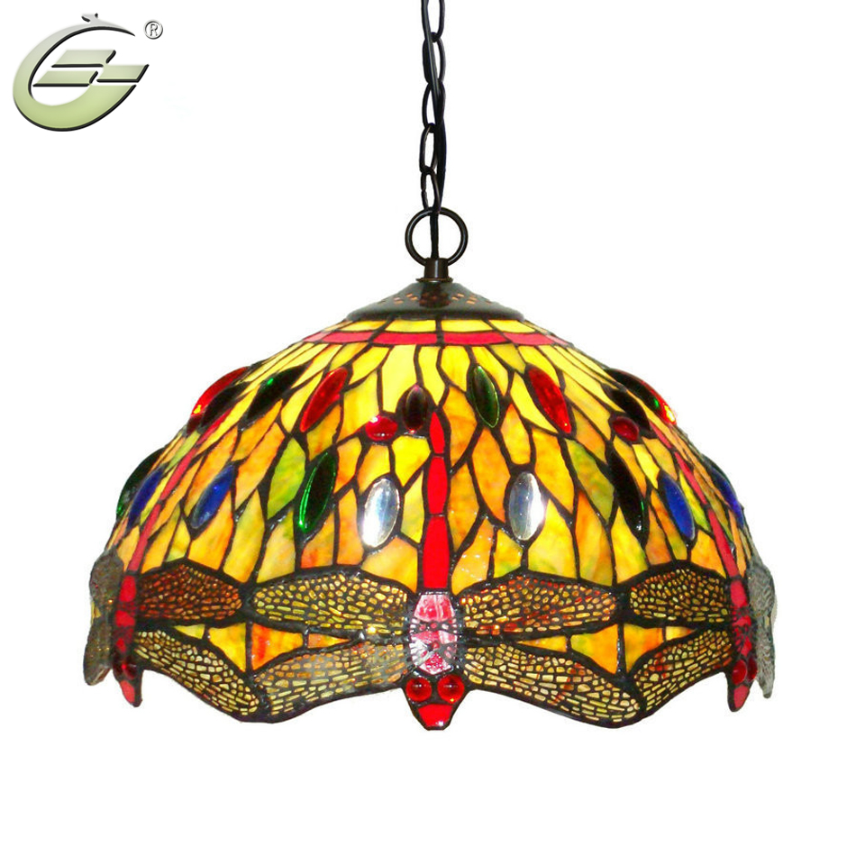 Stained Glass Pendant Lamp Chandelier Restaurant Cafe Bar Art Deco ...
