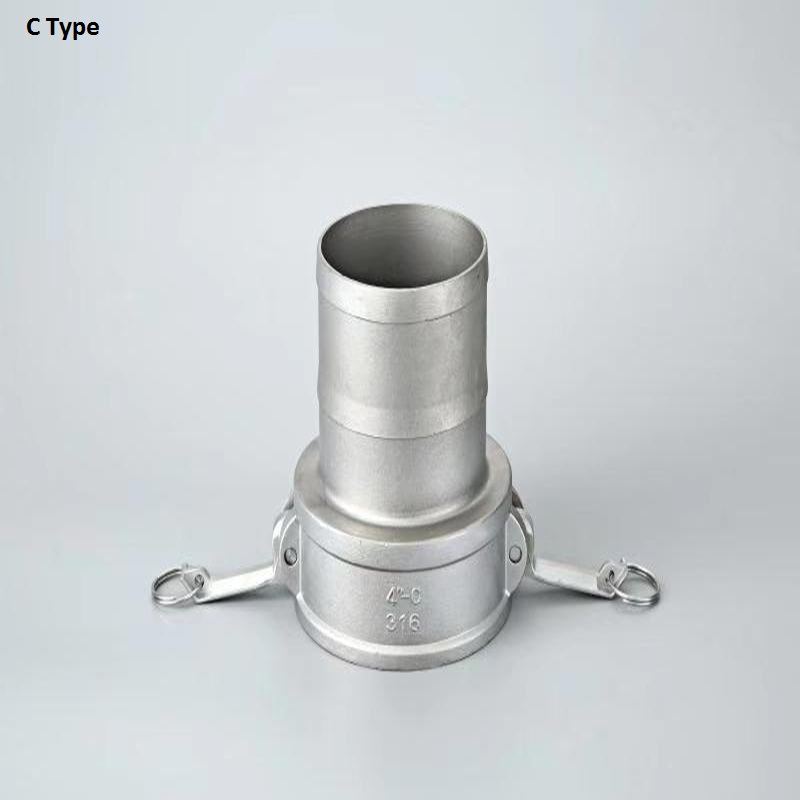 """Type C 1/2"""" 3/4""""  1"""" Camlock Coupling Hosetail Barb 304 Stianless Steel Socket Camlock Quick Disconnect Adapter"""