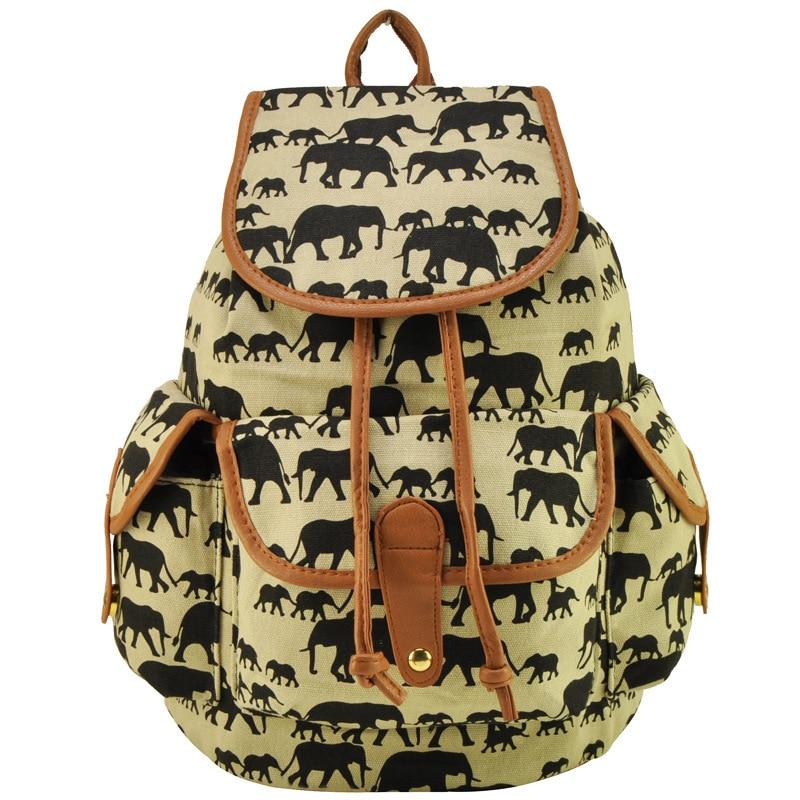 New 2014 Back to School Teens Girls Elephants School Backpacks ...