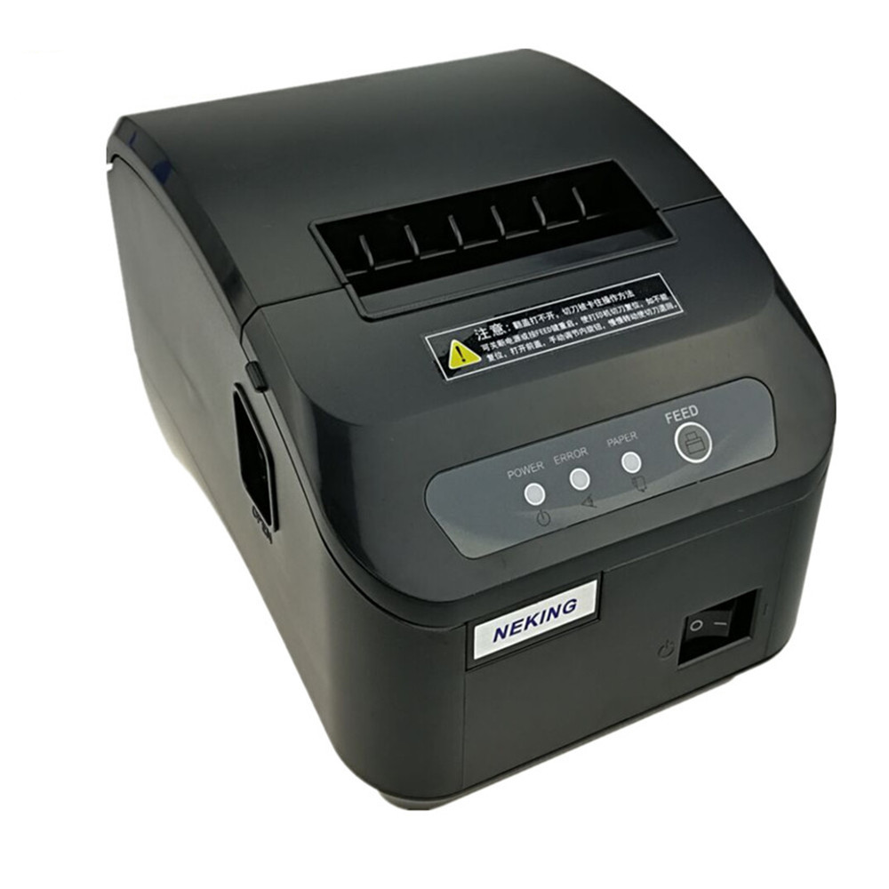 Gift 1Thermal Paper + 1Scanner + POS printer 80mm thermal receipt printer Q200 II automatic cutting USB serial or Ethernet port
