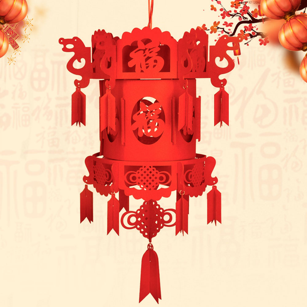 Нетканая ткань китайский фонарь китайский красный фонарь 3D фонарь традиционный красивый Рождественский праздничный дверь украшение дома подарок - Цвет: 3
