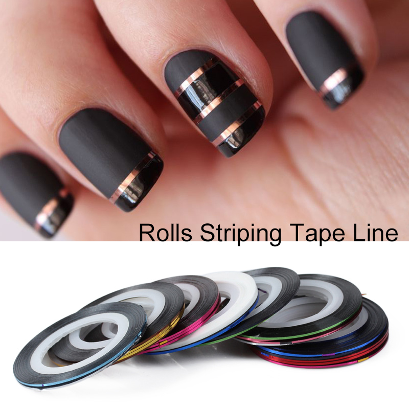 Saviland 10Pcs/set Mixed Colorful Beauty Nail Rolls Striping Tape Line DIY Nails Art Stickers for Nail Tools Decorations 14 rolls glitter scrub nail art striping tape line sticker tips diy mixed colors self adhesive decal tools manicure 1mm 2mm 3mm
