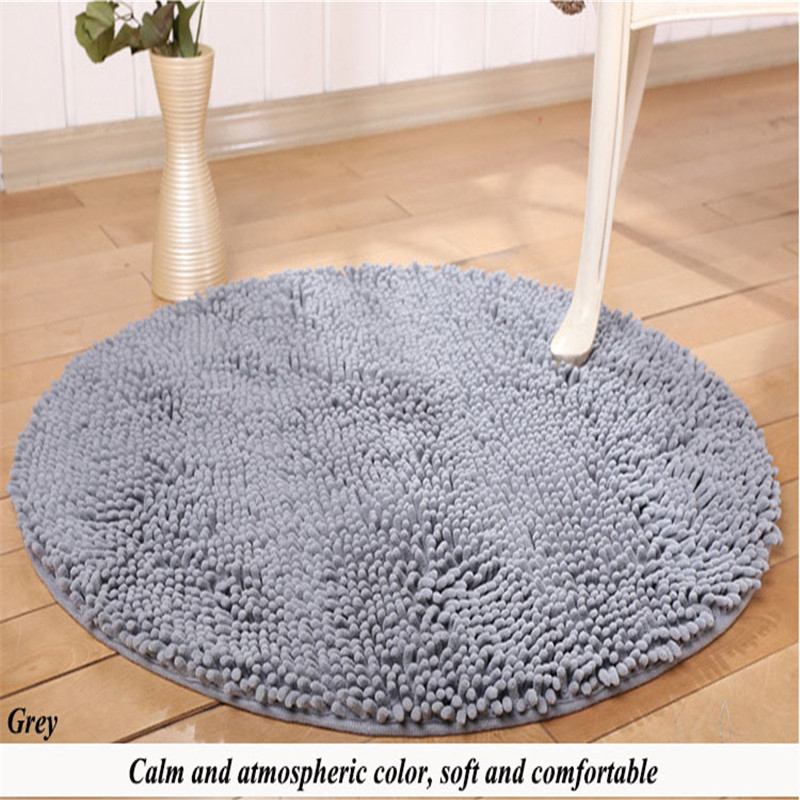 Diamètre 80 cm tapis de bain Chenille tapis de toilette tapis de porte tapis et tapis pour salle de bain tapis de cuisine tapis de prière musulman