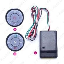 Regulador Del Volante Del Bluetooth Del Teléfono Sin Hilos del coche Clave Botón Para Android Car DVD/GPS de Navegación Jugador #2780