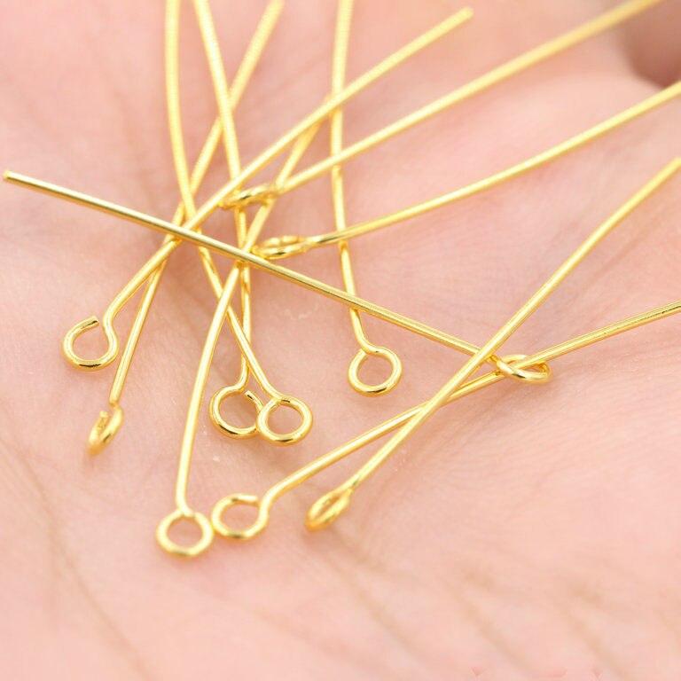 40mm Head Pins eye pin jewelry making studs beads Needles tassel ...