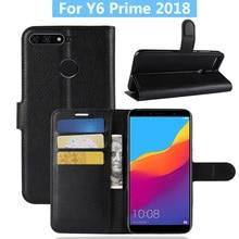 لهواوي y6 رئيس 2018 حالة غطاء جلد الوجه الهاتف حافظة لهاتف Huawei الشرف 7A برو/التمتع 8E محفظة جلدية حامل غطاء