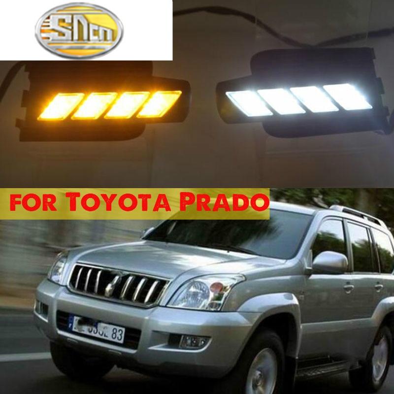 DRL For Toyota Prado 120 Land cruiser LC120 FJ120 2003 2004 2005 2006 2007 2008 2009 LED Daytime Running Light fog lamp