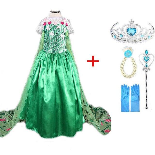 Cô gái anna elsa Ăn Mặc Trang Phục Cho Trẻ Em Công Chúa váy Tuyết Nữ Hoàng elza ăn mặc Trang Phục Trẻ Em dress halloween