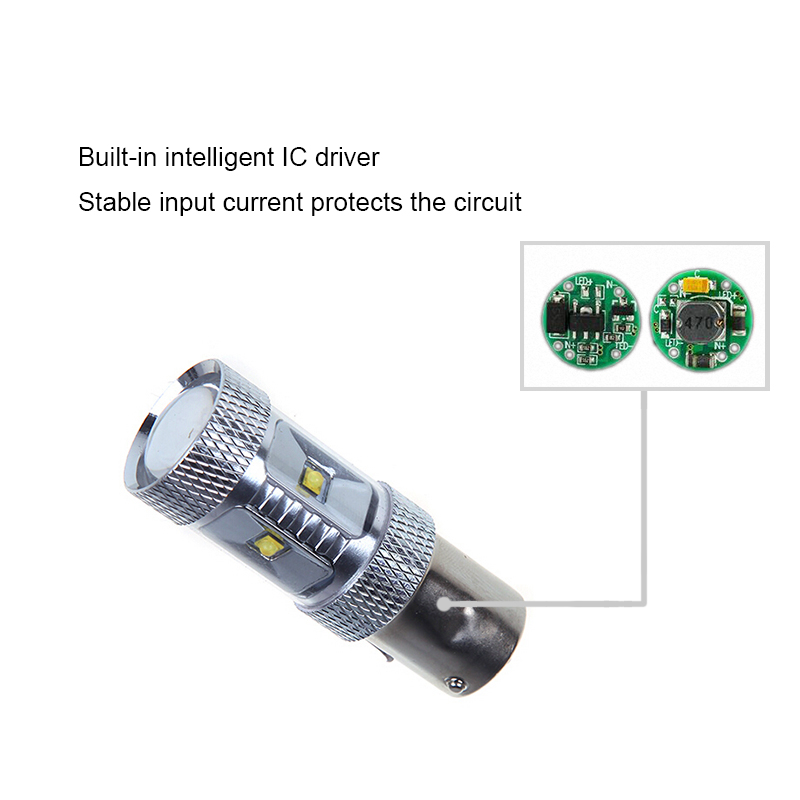 2x P21W LED 1156 BA15S LED Bulbs Car Lights Reverse Brake Light For BMW 3/5 SERIES E30 E36 E46 E34 X3 X5 E53 E70 Z3 Z4