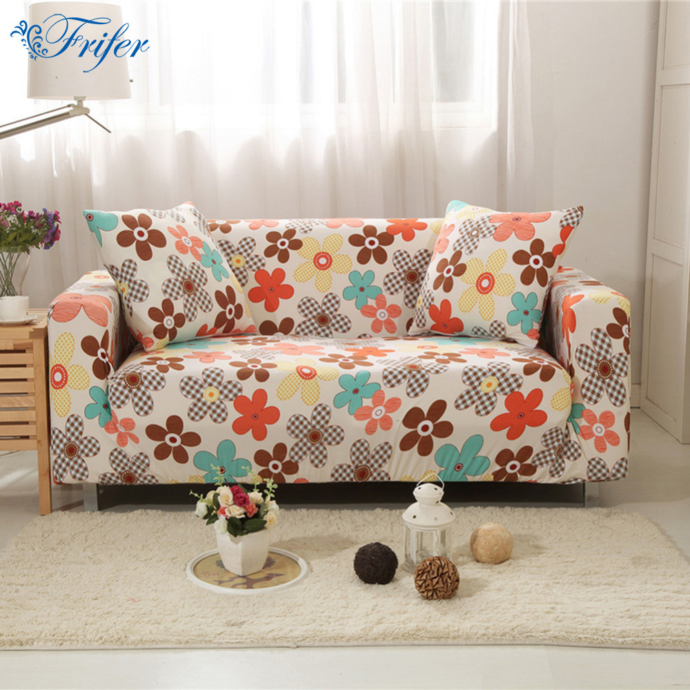 Sofa Covers Tight Wrap Printed Universal Couch Cover Elastic Full Sofas Slipcovers Towel Single/Two/Three-seater Four Seasons