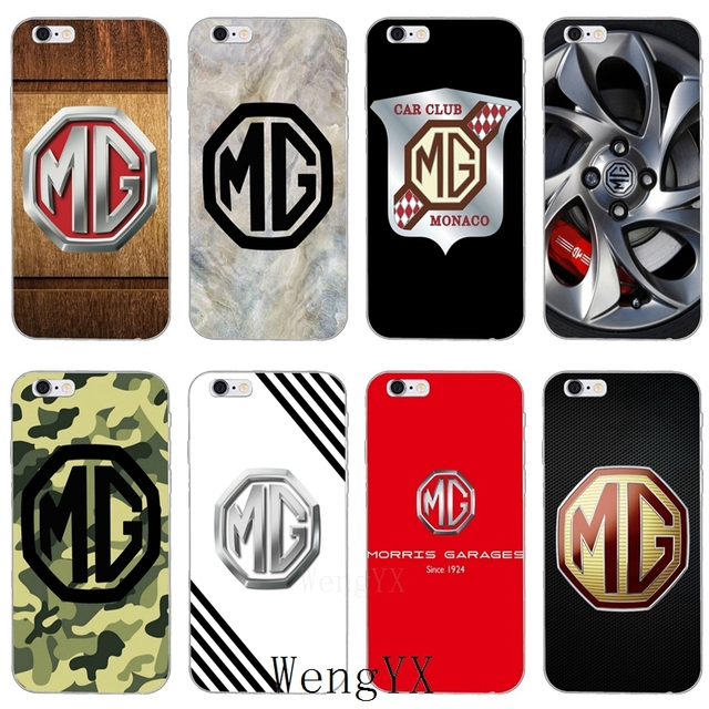Us 1 99 Cool Mg Car Logo Slim Silicone Soft Phone Case For Iphone X 8 8plus 7 7plus 6 6s Plus 5 5s 5c Se 4 4s In Half Wrapped Case From Cellphones