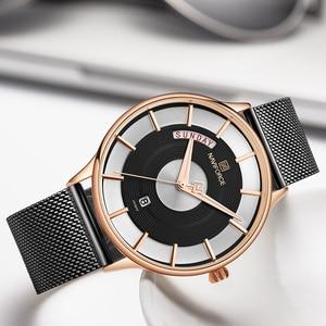 Image 1 - חדש גברים שעון NAVIFORCE יוקרה Creative שעונים למעלה מותג קוורץ שעון זכר ספורט פלדה בנד שעון יד relogio masculino 2019
