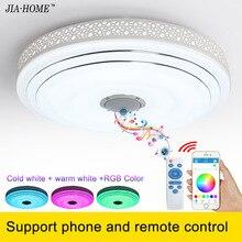 2017 RGB Dim tavan işık fikstürü hoparlör ve cep telefonu ile kontrol kubbe tavan lambaları için parti veya ofis