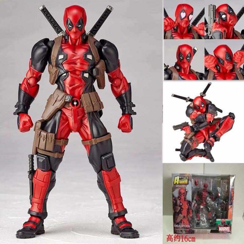 Revoltech Yamaguchi Deadpool Super-heróis Figuras Action Figure Collectible Modelo Toy Boneca Presente