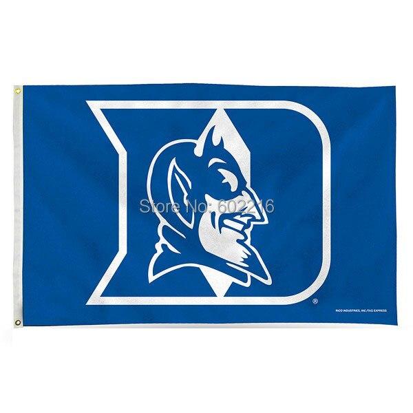 Duke Blue Devils Blue College Large Outdoor Flag 3ft X 5ft Football