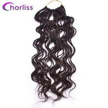"""Chorliss 14 """"вьющиеся Сенегальский крутить 35 корни/пакет 100 г крючком косы синтетических плетение волос предварительно Поворот темно-коричневый"""