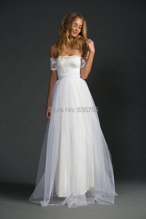 bohemian wedding dress strapless lace arm boho romantic stunning tulle gown boho brides dress vestido de