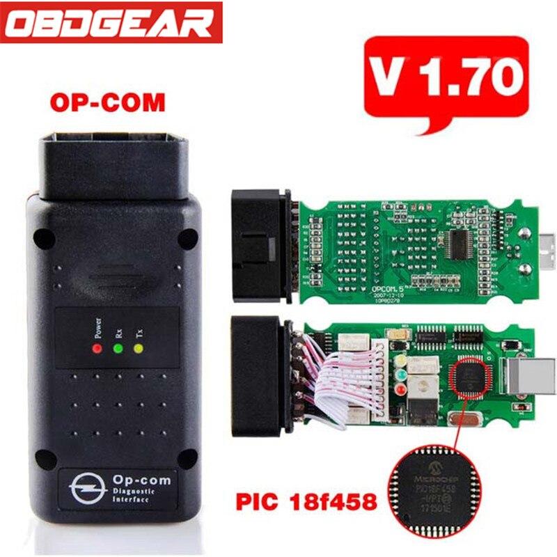 New Opel OP com V1.70 Diagnostic Scanner For Car OBD2 Diagnostic Tool OP-com For Opel AutoScanner With pic18f458 Support Update