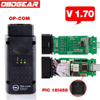 Newest V1 70 OBD2 Op Com Op Com Opcom For Opel Scan Tool With PIC18F458 Chip