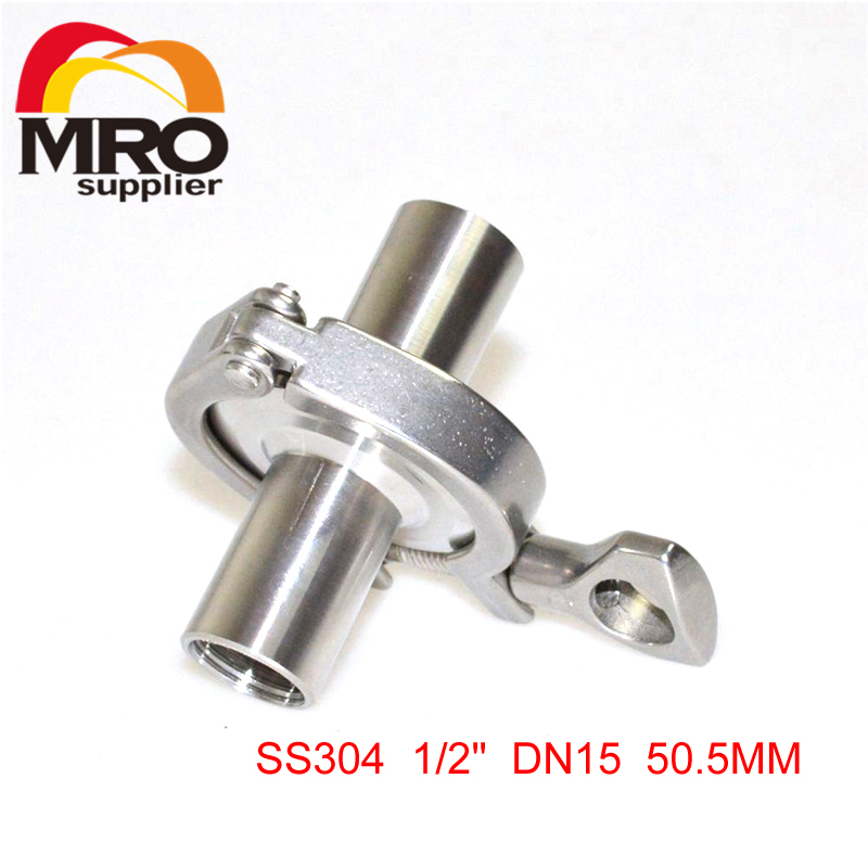 1/2 DN15 Sanitary Ferrule Female Threaded Pipe Fittings +Tri Clamp+Silicone Gasket Stainless Steel SS304 SS067 stainless bspp dn32 dn40 female tri clamp sanitary adapter ss304 stainless steel