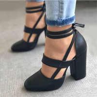 Frauen Pumpen Plus Größe 35-43 Frauen Heels Chaussures Femme Gladiator Sommer High Heels Für Party Hochzeit Schuhe Frauen dicken Heels