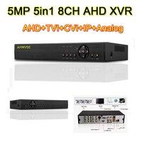 5MP 4MP 2MP 1MP 1080 P 5in1 XVR AHD DVR NVR, TVI, CVI IP цифровой видео Регистраторы 4 канала 8 канальный сетевой видеорегистратор