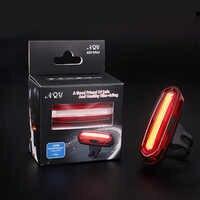 2018 nouvelle lampe de vélo 120 LM Rechargeable LED USB COB VTT feu arrière feu arrière vtt avertissement de sécurité vélo feu arrière