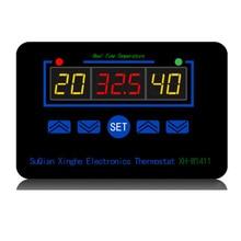 Digital thermostat 220V three display temperature controller temperature control switch -19~99C relay output 10A 220V AC digital thermostat 12v 24v 110v 220v temperature controller temperature control switch 19 99c output 10a 220v ac