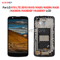 For LG K10 LTE 2016 LCD Display Touch Screen Assembly 5.3 For LG K10 LTE 2016 K410 K420 K420N K430 K430DS K430DSF K430DSY lcd