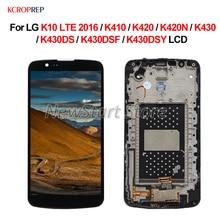 """LG K10 LTE 2016 dokunmatik LCD ekran ekran meclisi 5.3 """"LG K10 LTE 2016 K410 K420 K420N K430 K430DS k430DSF K430DSY lcd"""