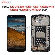 """Para lg k10 lte 2016 display lcd montagem da tela de toque 5.3 """"para lg k10 lte 2016 k410 k420 k420n k430 k430ds k430dsf k430dsy lcd"""