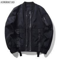 AIRGRACIAS 2017 Men S Autumn Jackets Windbreaker Fashion Bomber Jacket Brand Clothing US EU Size Casual