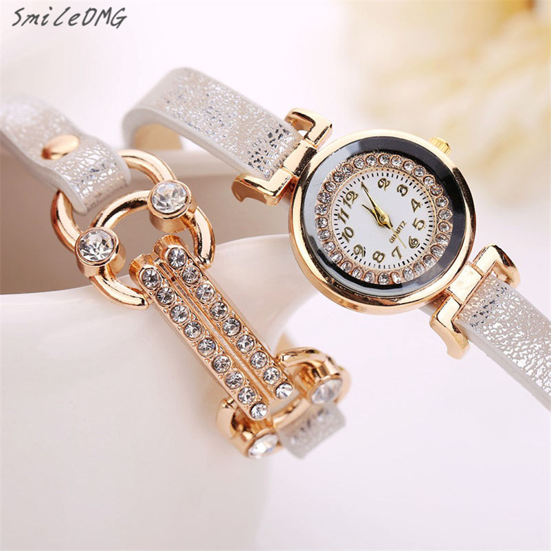 SmileOMG Hot Sale Women Crystal Bracelet Quartz Leopard Winding Wrap WristWatch Watch Free Shipping ,Sep 12 smileomg hot sale fashion women crystal stainless steel analog quartz wrist watch bracelet free shipping christmas gift sep 5