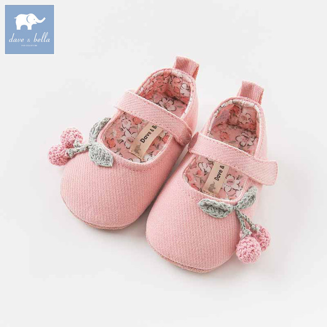 DB8456 Dave Bella baby girls soft first walkers baby cute shoes-in ... 26d678d10324