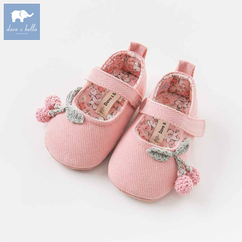 DB8456 Dave Bella baby girls soft first walkers baby cute shoes